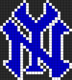 Yankee Logo1 Perler Bead Pattern / Bead Sprite