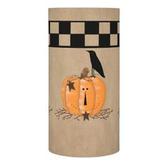 Country Primitive Pumpkin LED Flameless Candle - rustic country gifts style ideas diy