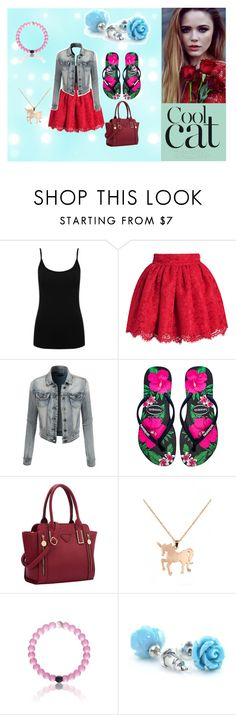 """""""Cool Cat"""" by cudagirl831 ❤ liked on Polyvore featuring M&Co, LE3NO, Havaianas, Louche, women's clothing, women's fashion, women, female, woman and misses"""