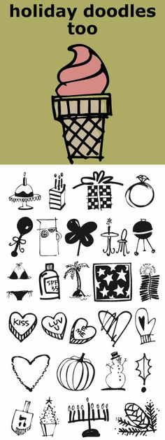 If you liked Holiday Doodles you will love Holiday Doodles Too as it is more of the same. 42 icons to decorate your year. For best results use in larger point sizes.
