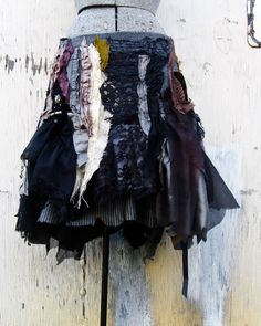 the Gryphon skirt.. ☆  made from reclaimed vintage materials.