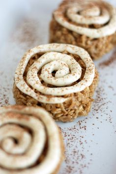Cinnamon Roll Rice Krispie Treats - Cooking Classy -- a way for my GF hubby to have something cinnamon rollish