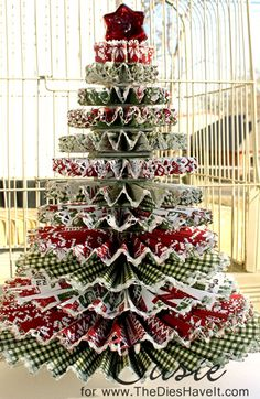 Tuesday, November 27, 2012 Twelve Rosette Layered Christmas Tree   The Dies Have It: My Original Rosette Christmas Tree