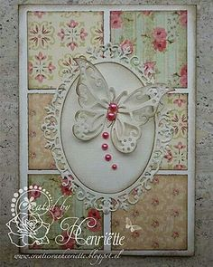 Vintage Handmade Cards, Vintage Cards, Greeting Cards Handmade, Butterfly Cards Handmade, Oval Frame, Vintage Birthday Cards, Patchwork Cards, Shabby Chic Cards, Spellbinders Cards