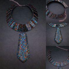 unique elegant necklace unique womens tie by MashaBitterJewelry
