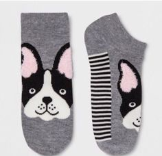 41590c9333c Women s Xhilaration Pink French Bulldog Novelty Fun Socks One Size 4 10