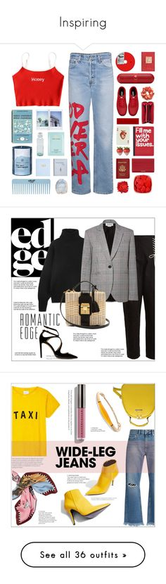 """""""Inspiring"""" by curvyquill ❤ liked on Polyvore featuring R13, Beats by Dr. Dre, NIKE, Balenciaga, Pier 1 Imports, Fendi, Passport, Estée Lauder, Global and Chesapeake Bay Candle"""