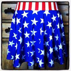 Running circle skirt red white blue stars stripes captain america wonder woman boston marathon patriotic 4th of july disney avengers half