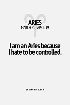 Aries Facts - Widder Fakten oh ja.