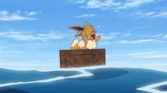 Ahoy, Trainers—Eevee is on a journey across the ocean! But when this little one ends up overboard, who comes to Eevee's rescue? Pokemon Mew, Pokemon Eeveelutions, Eevee Evolutions, Pokemon Cards, Pikachu, Pokemon Ash And Misty, Pokemon Movies, Nintendo World, Ideas
