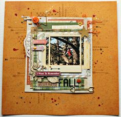 Scrapping with Thamar: I WANT TO REMEMBER THIS FABULOUS FALL - * cards & scrap uitdaging *