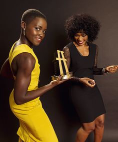 ciresince1984:  manoras-alley:   Lupita Nyong'o & Angela Bassett | HFA 2013 Portraits  Pose!  Love!  Black Girls Killing ItShop BGKI NOW