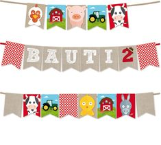 Personalized and ready to print. Cow Birthday Parties, Baby First Birthday Cake, Farm Birthday, Monthly Baby Photos, Barn Pictures, Barn Parties, Festa Party, Farm Party, Ideas Para Fiestas