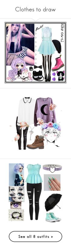 """""""Clothes to draw"""" by mianichan ❤ liked on Polyvore featuring T By Alexander Wang, CO, Forever 21, Dr. Martens, Tara Jarmon, Steve Madden, Amanda Rose Collection, Topshop, Barbed and Converse"""
