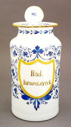 Pharmacy jar, Real Fábrica de Cristales de la Granja  (MNAD's collection) Apothecary Jars, Jaba, Pharmacy, French Country, Italy, Sicilian, Jars, Farmhouse, Crystals