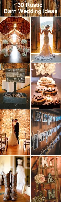 30 inspirational rustic barn wedding ideas: