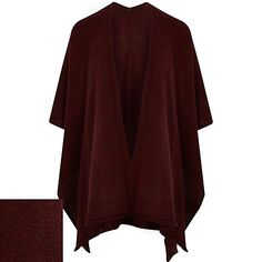 Dark red knitted cape 32,00 €