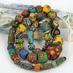 Large Mosaic & Folded Glass Bead collection