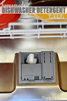 Want to learn how to make homemade dishwasher detergent tablets with essential oils? Our DIY dishwasher detergent tablets are easy to make & work great.