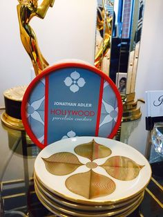 So fun getting surprises. My office just got a little more Hollywoodish with these @jonathanadler coasters! #design