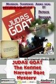 book promotion-poster designed by AuthorPR to  promote Judas Goat The Kennet Narrow Boat Mystery, a book written by Patrick Brigham