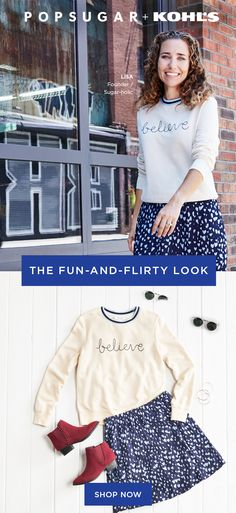 e99cdd28f4fc Refresh you look for fall with sweaters and sweatshirts from the POPSUGAR  at Kohl s collection. For a cute twist on casual style
