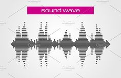 Sound wave music design element. Objects. $2.00