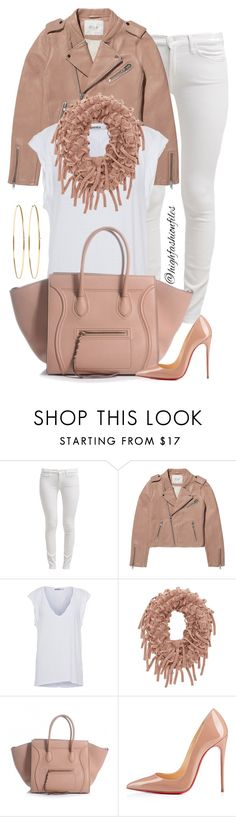 """""""Casual"""" by highfashionfiles ❤ liked on Polyvore featuring 7 For All Mankind, Maje, Pam & Gela, Charlotte Russe, Christian Louboutin, Jennifer Meyer Jewelry, women's clothing, women's fashion, women and female"""