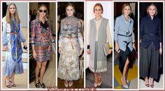 Olivia Palermo en los front rows de Burberry Prorsum, Matthew Williamson, Marchesa, J. W. Anderson, Emilia Wickstead y Stella McCartney en la London Fashion Week