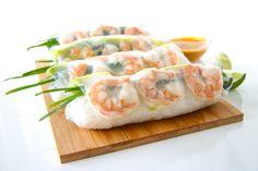 Shrimp and Avocado Summer Rolls (Fresh Spring Rolls) Shrimp Spring Rolls, Fresh Spring Rolls, Summer Rolls, Fresh Rolls, Spring Roll Wrappers, Peanut Dipping Sauces, Cold Noodles, Shrimp Avocado, Thing 1