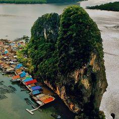 Village of Ko Panyi Phang Nga Bay Thailand   heathrowgatwickcars.com via Instagram http://ift.tt/2aGSM2W