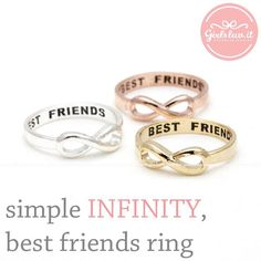 simple INFINITY best friends ring