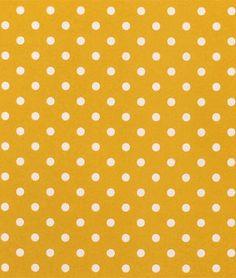 Premier Prints Outdoor Polka Dot Yellow Fabric