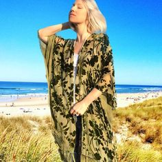 This is really where I want to be right now 🏝 We just shipped out all the orders for the week, huge thanks to all that have purchased. . . . . #handdyed #velvet #greenvelvet #kimonos #floralkimono #kimono #resortwear #beachvibes #alysonrenee #madeinnyc