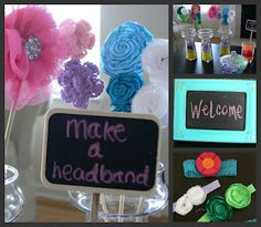 DIY Headband Making Station for a baby shower- it's fun and creates a few extra goodies for the baby.