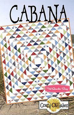 Quilt with half square triangles.