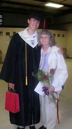 Joe with Grandma Violet at Graduation.