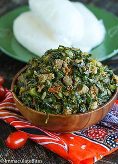 Sukuma Wiki- A healthy and economical braised collard greens full of flavor and Spice . Collard greens done right! Eating kale week after week can become a bit of a drag if you are trying to consume more greens, so I'm happy to share thi Vegetable Dishes, Vegetable Recipes, Kenya Food, Ghana Food, Indian Food Recipes, Ethnic Recipes, African Recipes, Kenyan Recipes, Collard Greens Recipe