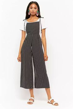 Product Name:Striped Self-Tie Overalls, Category:dress, Price:24.9