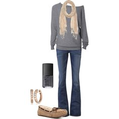 """""""Casual Fall.."""" by ohsnapitsalycia on Polyvore"""