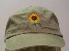 Sunflower Cap by priceapparel How To Wash Hats, Embroidery On Clothes, Mode Chic, Periwinkle Blue, Navy Blue, Royal Blue, Flower Hats, Cute Hats, Dad Hats