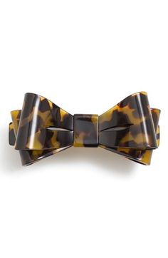 "'Ballet Bow' Barrette       A polished bow hair clip adds a dainty, romantic touch to your tresses. •3"" length. •Cellulose acetate in tortoise shell pattern. #preppy chic"