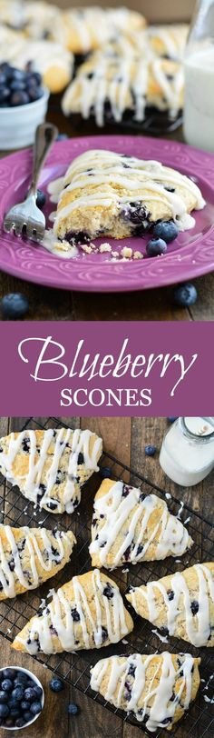 These buttery, moist, and tender Blueberry Scones are the perfect way to eat up those summer blueberries!
