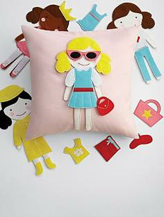 d0788d97cf1 doll party pillow (personalized pocket on back to hold the felt dolls    their accessories) l Red Envelope