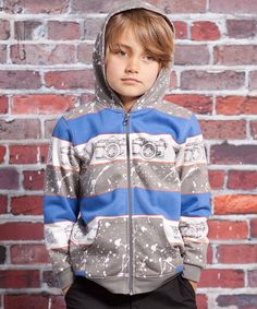 Gray Vintage Camera Skylar Zip-Up Hoodie - Infant, Toddler & Boys by Jelly the Pug on #zulily #cutiestyle