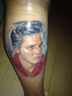 My really awesome Elvis tattoo! #elvis #elvistattoo #tattoo