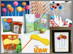 Lorax party inspiration. Happy Birthday Dr. Seuss!