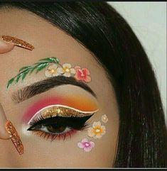 Eye Makeup Glitter, Eye Makeup Art, Cute Makeup, Skin Makeup, Eyeshadow Makeup, Beauty Makeup, Eyeshadows, Eye Art, Beauty Art