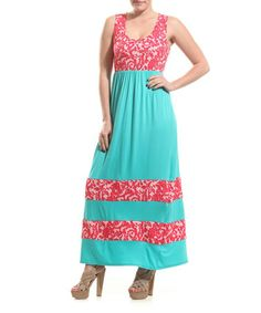 This Coral & Jade Flourish Maxi Dress by Coveted Clothing is perfect! #zulilyfinds