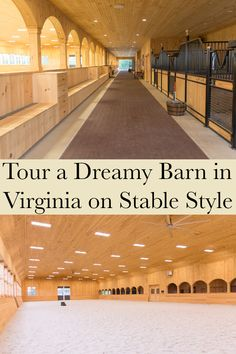 Gantsoudes Farm was completed in 2015 by King Barns. The barn has a tack room, wash stall, feed room, grain room, laundry and half bath. Barn Stalls, Horse Stalls, Dream Stables, Dream Barn, Horse Barn Designs, Horse Barn Plans, Farm Layout, Horse Arena, Indoor Arena